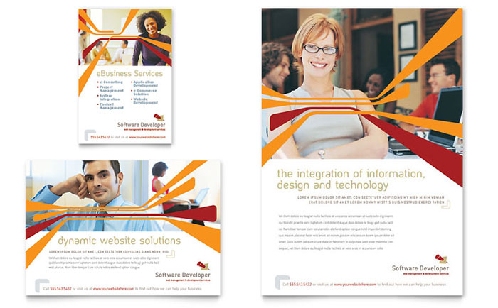 Software Developer Flyer & Ad Template Download - Word & Publisher - Microsoft Office