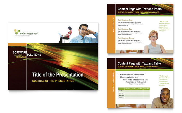 Internet Software PowerPoint Presentation Template Download - Microsoft Office