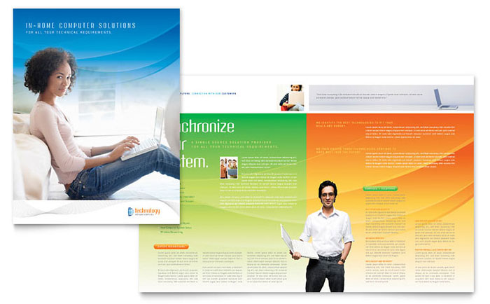 Computer & It Services Brochure Template - Word & Publisher
