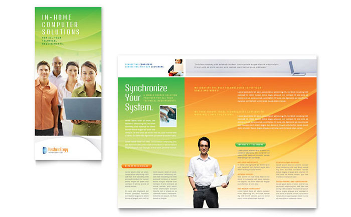 Computer  It Services Brochure Template  Word  Publisher