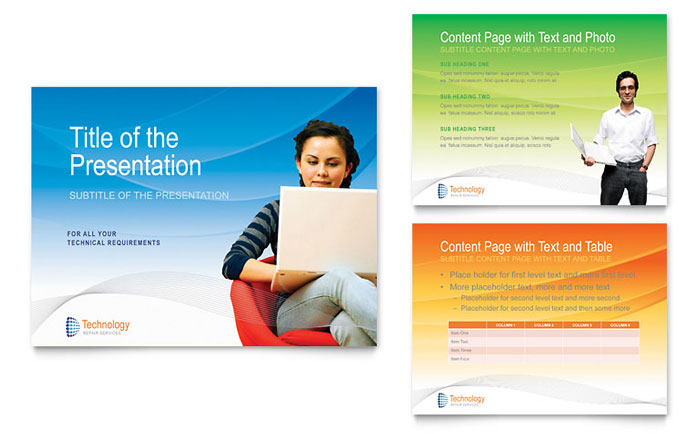 Computer & IT Services PowerPoint Presentation Template Download - Microsoft Office
