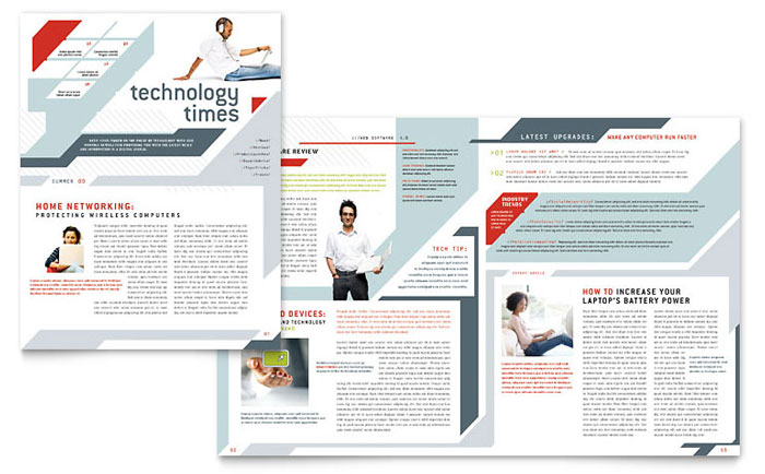 Computer Solutions Newsletter Template - Word & Publisher