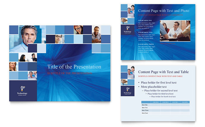 Technology Consulting & IT PowerPoint Presentation Template Download - Microsoft Office