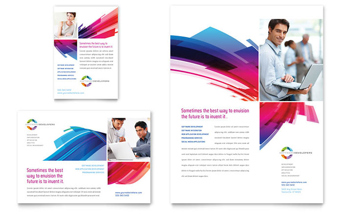 Software solutions flyer ad template word publisher for Ad designs