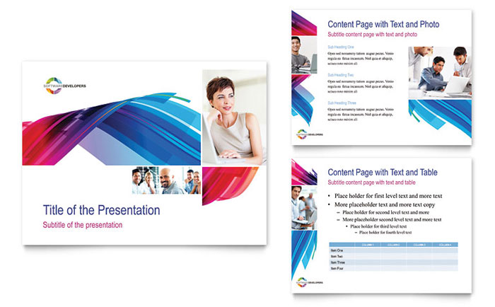 software solutions powerpoint presentation - powerpoint template, Presentation templates