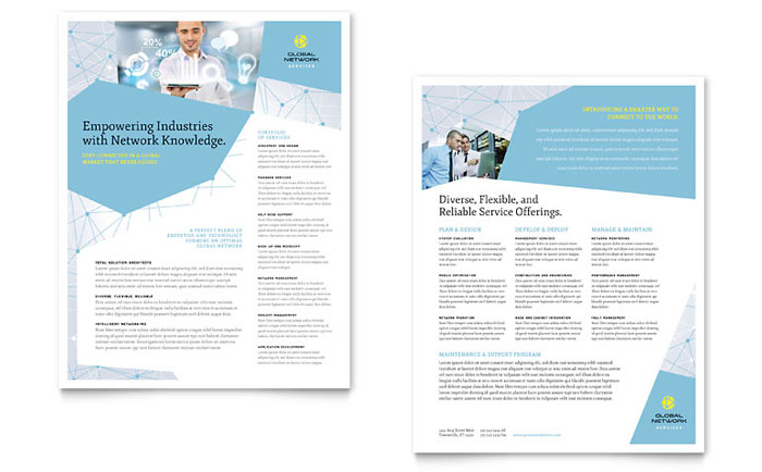 Global Network Services Datasheet Template - Word & Publisher