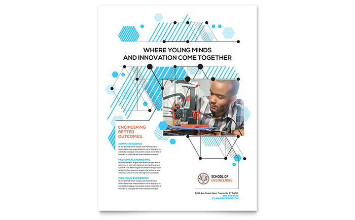 Computer Engineering Flyer Template Download - Word & Publisher - Microsoft Office