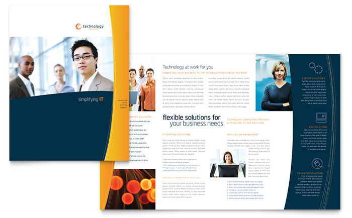 Free Brochure Template   Word U0026 Publisher Regarding Microsoft Word Flyer Template Free