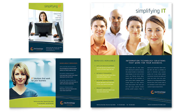 ms word brochure template free