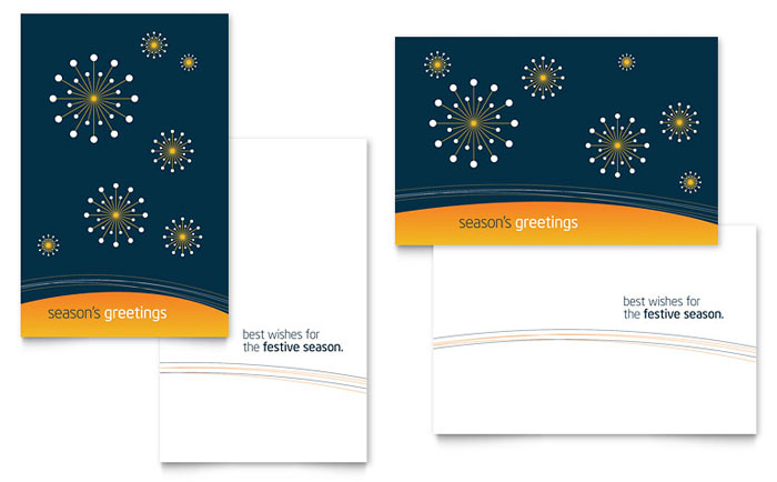 Free Greeting Card Template - Microsoft Word & Publisher