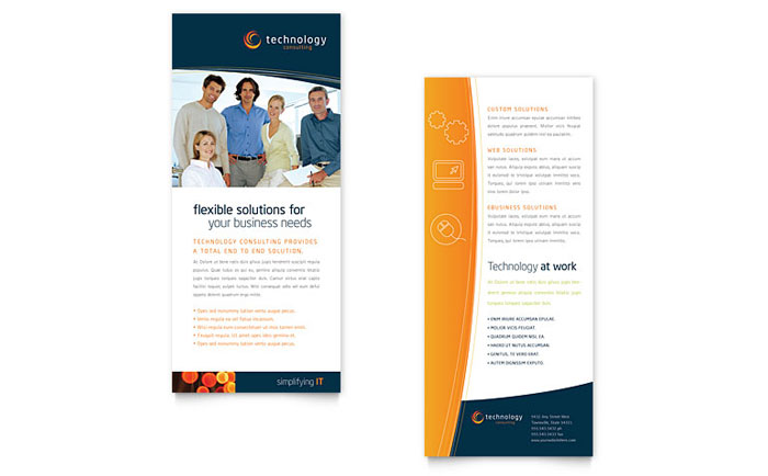 Free Rack Card Template  Word  Publisher  Microsoft