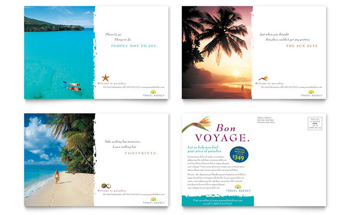 Travel Agency Postcard Template Word Amp Publisher