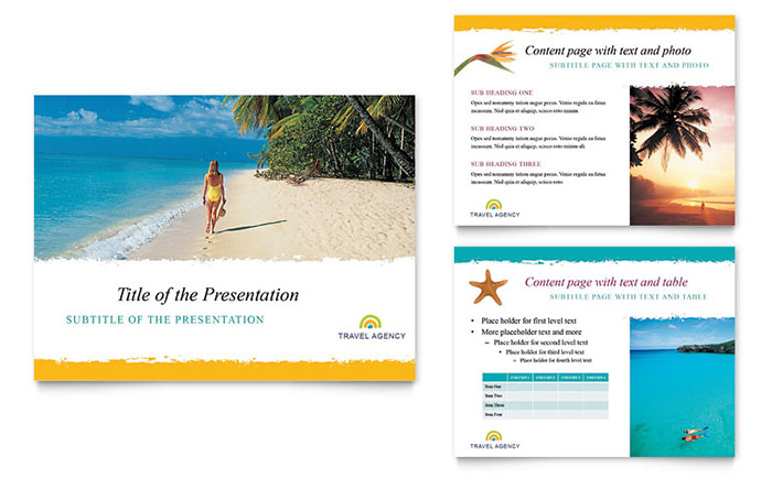Travel Agency PowerPoint Presentation Template Download - Microsoft Office