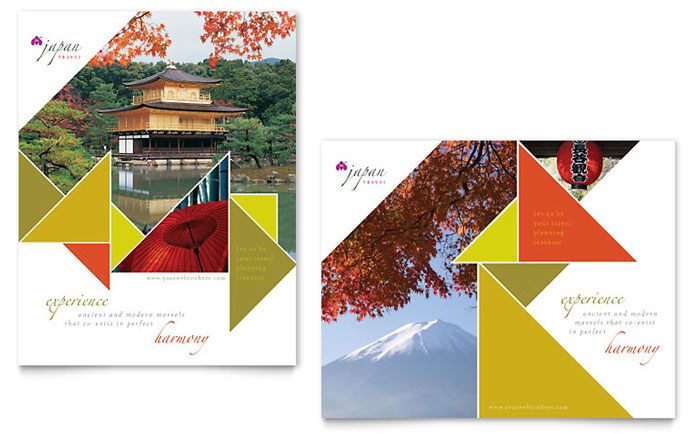 Japan Travel Poster Template - Word & Publisher