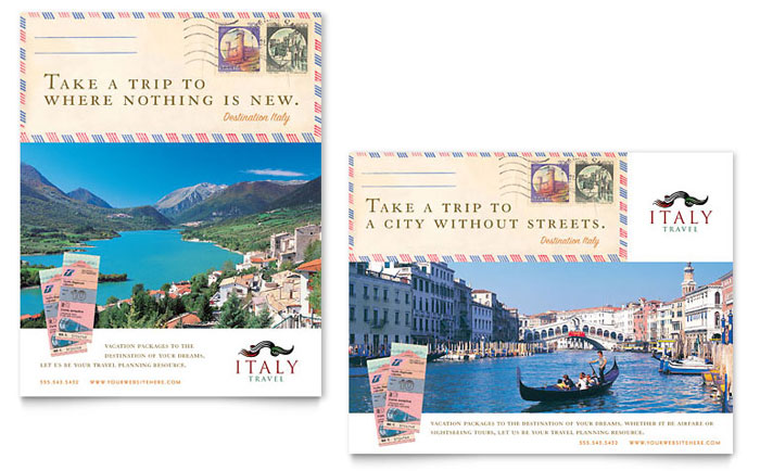 Italy Travel Poster Template - Word & Publisher