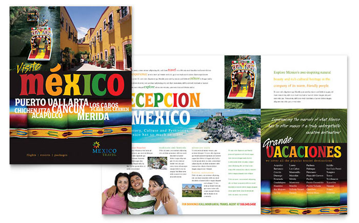 Mexico Travel Brochure Template  Word  Publisher