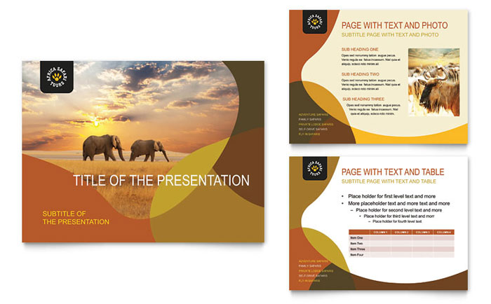 African Safari Powerpoint Presentation Powerpoint Template