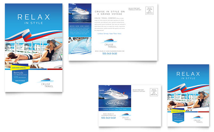 Cruise Travel Postcard Template Download - Word & Publisher - Microsoft Office