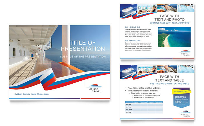 Cruise Travel Powerpoint Presentation  Powerpoint Template