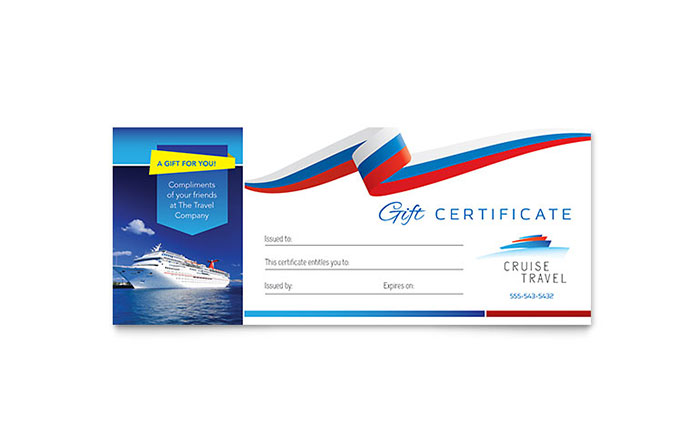 Cruise travel gift certificate template word publisher yelopaper Gallery
