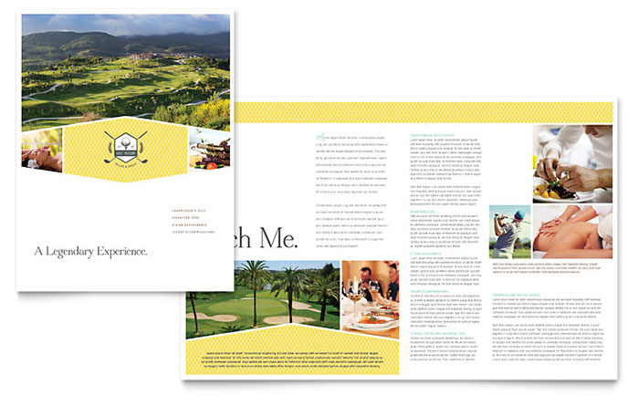 Golf Resort Brochure Template Download - Word & Publisher - Microsoft Office