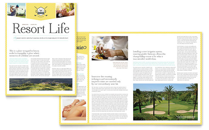 Golf Resort Newsletter Template Download - Word & Publisher - Microsoft Office