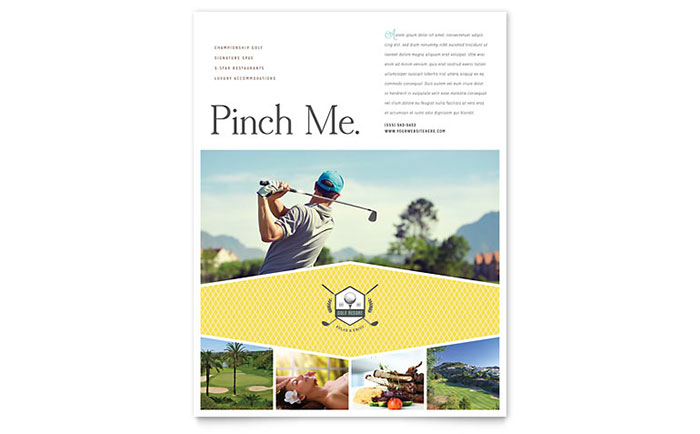 Golf Resort Flyer Template Download - Word & Publisher - Microsoft Office