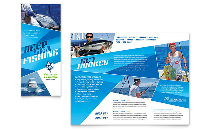 Fishing Charter & Guide Brochure Template - Word & Publisher