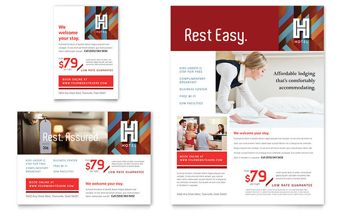 Hotel Flyer & Ad Template Download - Word & Publisher - Microsoft Office