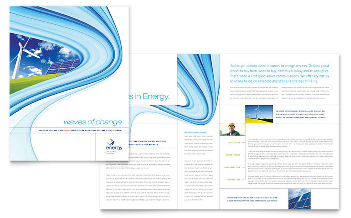 Renewable energy consulting brochure template word for Microsoft word catalog template
