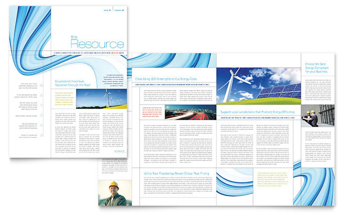 renewable energy consulting newsletter template word publisher