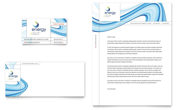Renewable Energy Consulting Business Card & Letterhead Template - Word & Publisher