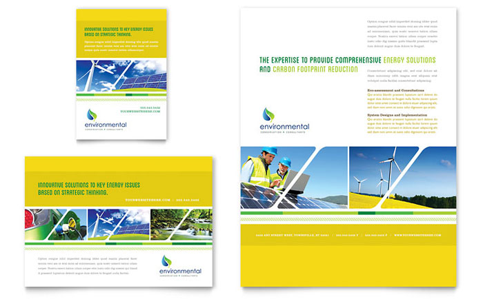 Environmental Conservation Flyer Ad Template Word Publisher - 1 page brochure template