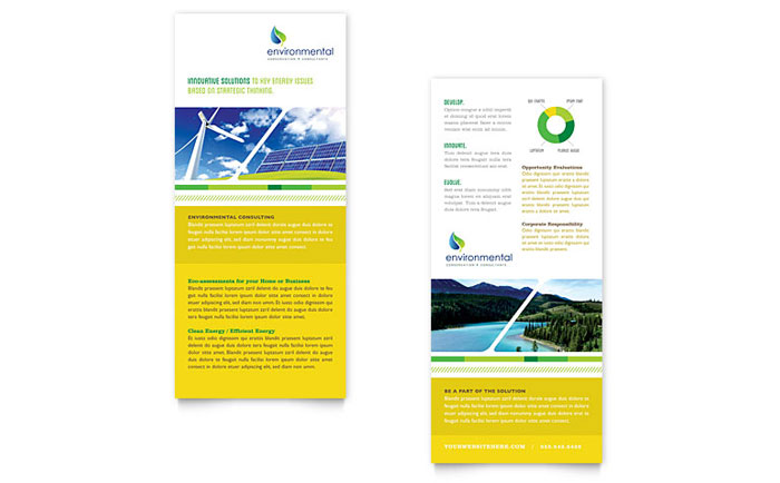 Environmental Conservation Rack Card Template  Word  Publisher