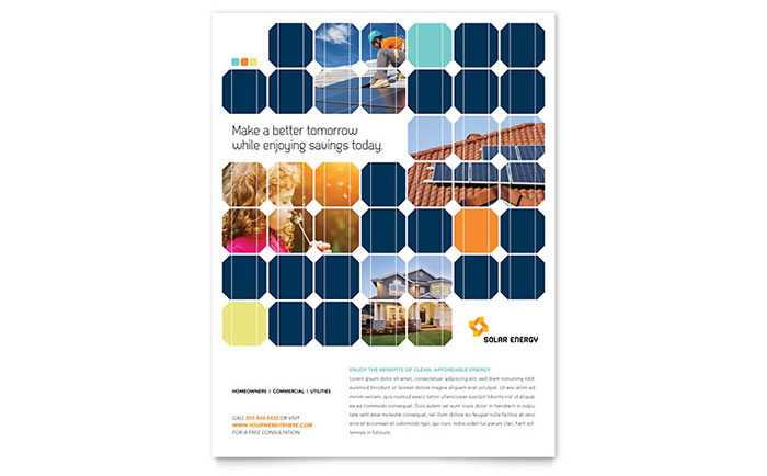 Solar Energy Flyer Template - Word & Publisher