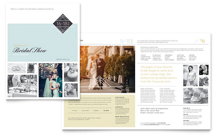 Bridal Show Brochure Template - Word & Publisher