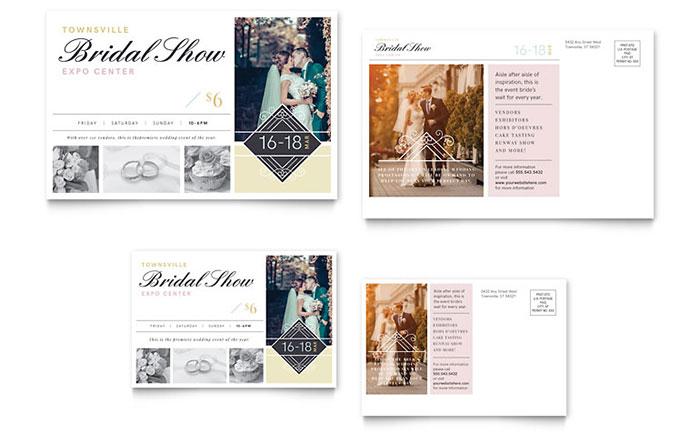 Bridal Show Postcard Template - Word & Publisher