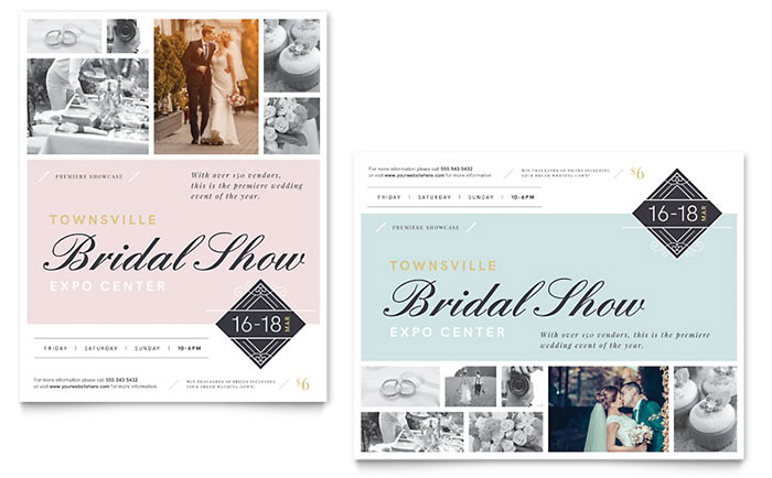 Bridal Show Poster Template - Word & Publisher