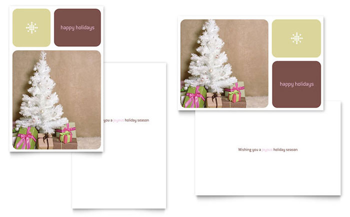 Contemporary Christmas Greeting Card Template - Word ...