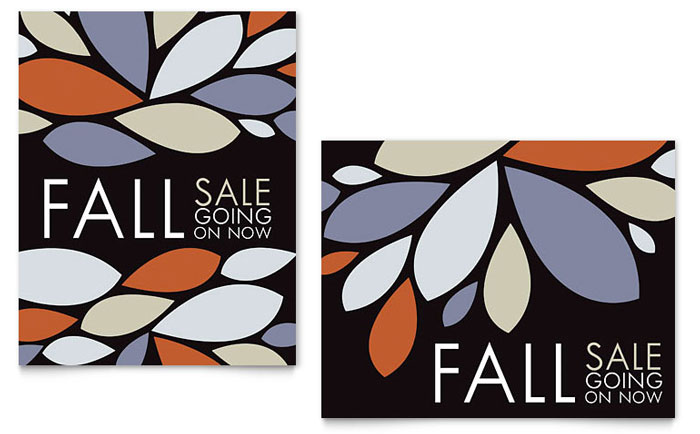 Contemporary Leaves Sale Poster Template Download - Word & Publisher - Microsoft Office