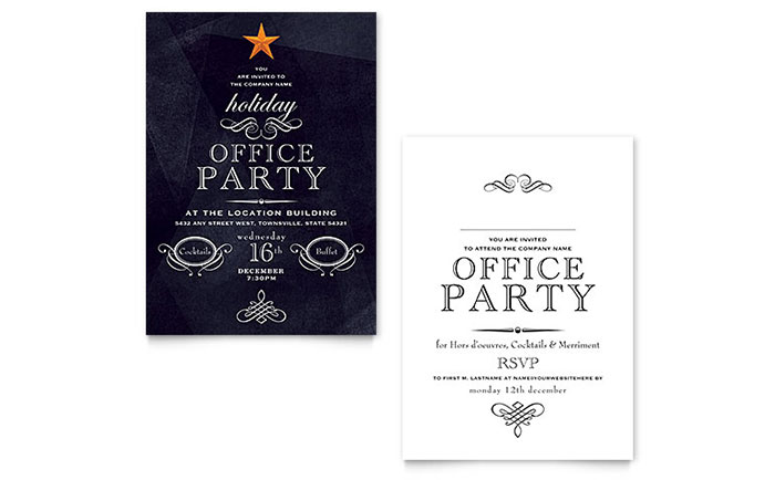 office holiday party invitation template word publisher - Party Invitation Template Word