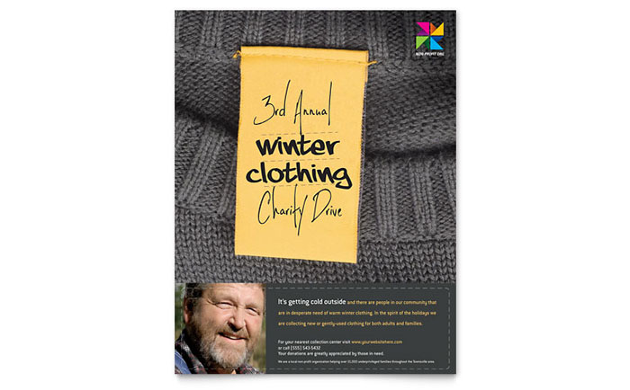 Winter Clothing Drive Flyer Template Download - Word & Publisher - Microsoft Office