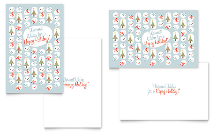 Happy Holidays Greeting Card Template Word Publisher