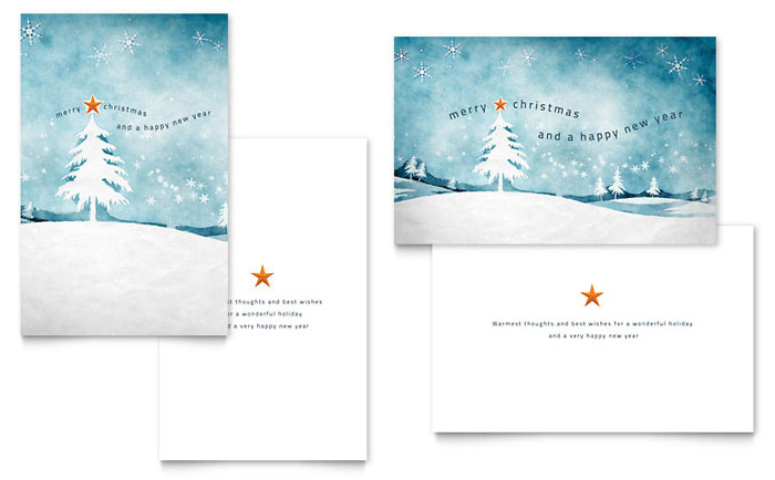 Microsoft publisher greeting card templates selol ink winter landscape greeting card template word publisher m4hsunfo