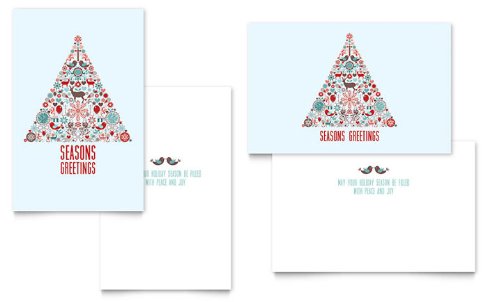 Holiday Art Greeting Card Template - Word & Publisher
