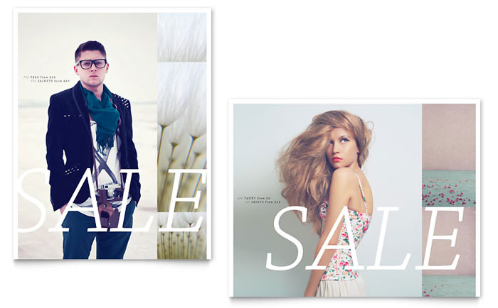 Urban Fashion Sale Poster Template - Word & Publisher