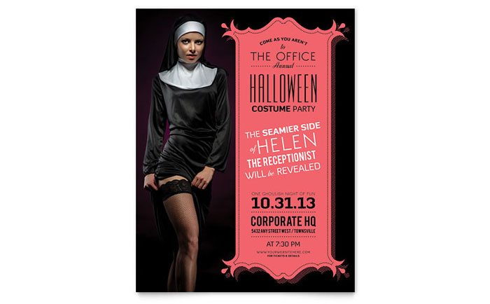 Halloween Costume Party Flyer Template Word Publisher – Free Template for Flyers Microsoft Word