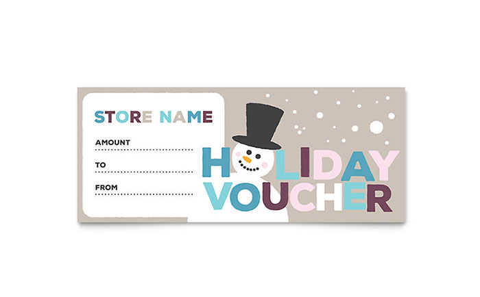 Jolly Holidays Gift Certificate Template Download - Word & Publisher - Microsoft Office