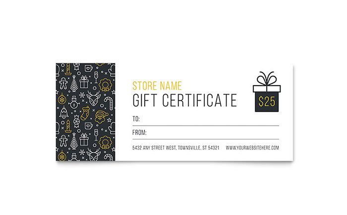 Christmas Wishes Gift Certificate Template Word Publisher