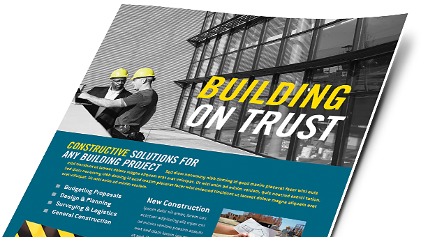 Construction Brochures Flyers Word Publisher Templates